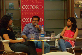 In converation with Pratibha and Sapna at the Book Reading of Love, life & all that jazz... - Oxford, Leela, Bangalore