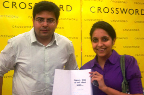 Signing a book for Priyanka Gulati from Crossword